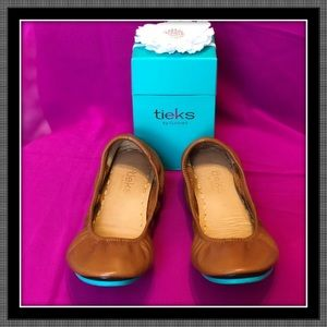 Tieks in Chestnut - Size 8